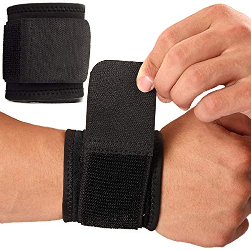 Wrist Brace, 2 PACK Wrist Wraps for Carpal Tunnel for women and men. Wrist Straps for Weightlifting, Working Out and Pain Relief. Flexible, Highly Elastic, Adjustable, Comfortable and Multi-Functional