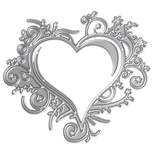 Koehope Stanssjablonen voor hartjes, messen, snijsjablonen voor doe-het-zelvers, scrapbooking, album, snijsjablonen, papier en kaarten
