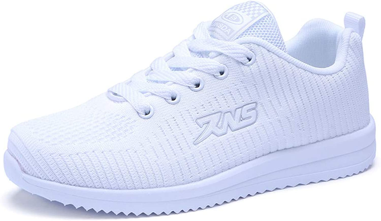 Damen-Turnschuhe, 2018 Spring Die neuen Laufschuhe Damenmode Fliegende Turnschuhe Atmungsaktive Freizeitschuhe (Farbe   Weiß, Größe   40)