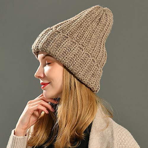 Wintermützen für Frauen Kaschmir Strickmütze Warm Slouchy Cap Handgemachte Häkeln...
