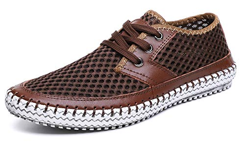 MOHEM Mens Womens Casual Mesh Water Shoes(WS3166-3Coffee40)