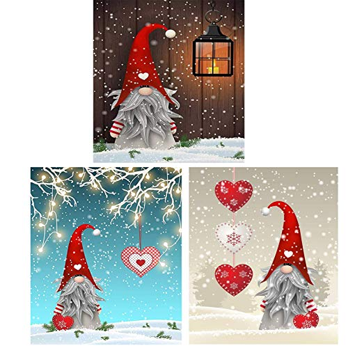 KTHOFCY 5D DIY Diamond Painting Kits for Adults Kids Christmas Hat Love Light Full Drill Embroidery Cross Stitch Crystal Rhinestone Paintings Pictures Arts Wall Decor Painting Dots Kits 9.8X11.8 INCH
