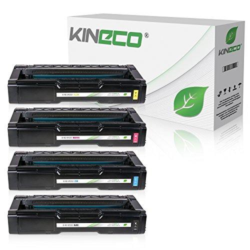 4 Kineco Toner kompatibel zu Ricoh Aficio SPC262DNW SP-C252dn SP-C252sf SP-C262