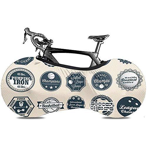 Sweet-Heart Fahrrad Radabdeckung, Protect Gear Reifen - Golf Baseball Vintage Mixed League Sport Etiketten und Abzeichen Bowling Basketball
