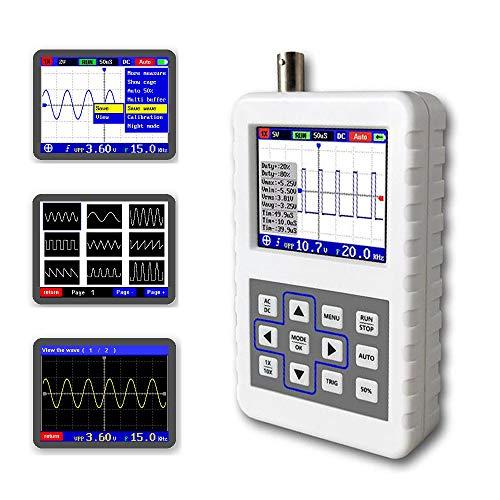 Handheld Portable Digital Oscilloscope Kit, 30MHz Analog Bandwidth @ 200MS/s Sampling Rate, Multimeter Tester, Digital Multimeter for Electronics DIY and The R & D Industry