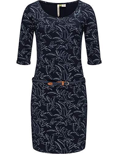Ragwear Damen Jerseykleid Sommerkleid Shirtkleid Baumwollkleid Tamy A Organic Navy21 Gr. M