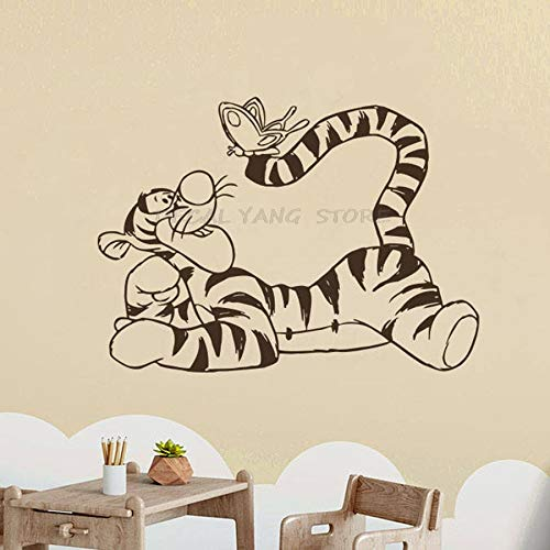 wZUN Wall Decal Little Bear Tiger Vinyl Sticker Cartoon Decoration Family Bedroom Kid Girl Room Nursery Decoration 42X57cm
