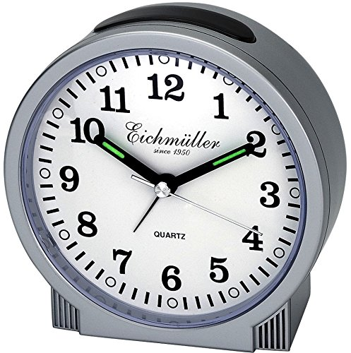 Eichmüller wekker met sluipende seconde zonder lastige tick/tack - geen tikken -