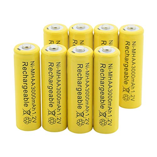Batería AA Ni-Mh De 1.2v 3000mah, Batería Recargable Nimh para Linterna, Maquinilla De Afeitar De Coche Mp3 Mp4 Modelo aéReo 8Pcs