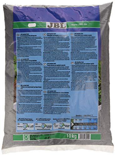 JBL Bodengrund Dunkel für Süßwasser Aquarien, Sansibar Dark 10 kg, 67051 - 2