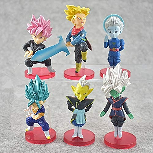 Yooped 6 unids/Set Dragon Ball Z Super Saiyan Fils Goku Trunks Cellule Broli Zenoh Jaco PVC Figurines Jouets Modèle Personnages Historiques