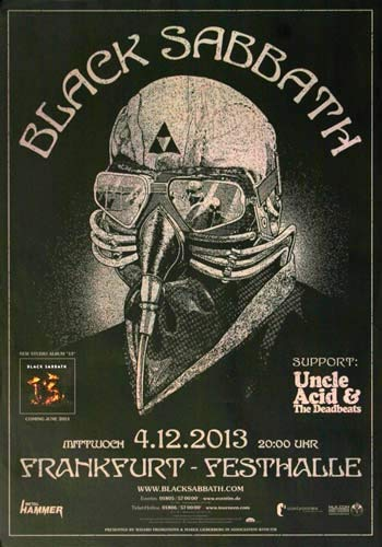 Black Sabbath - 13 Live, Frankfurt 2013 » Konzertplakat/Premium Poster | Live Konzert Veranstaltung | DIN A1 «