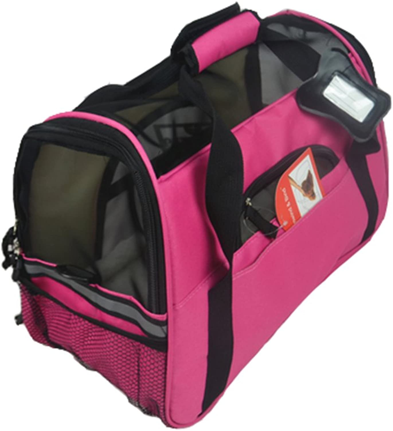 Pet Carrier Soft Sided Travel Bag for Small Dogs & Cats Airline Approved, Pink  4