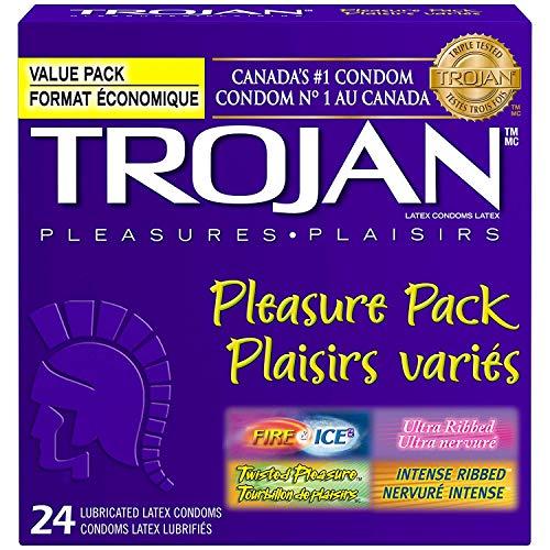 Trojan Condom Pleasure Pack Lubricated, 44 Condoms (2 Pack)