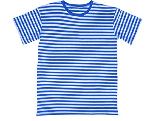 narrenkiste Ma23334-L blau-weiß Ringel T-SIRT Kurzarm Marine Shirt Gr.L
