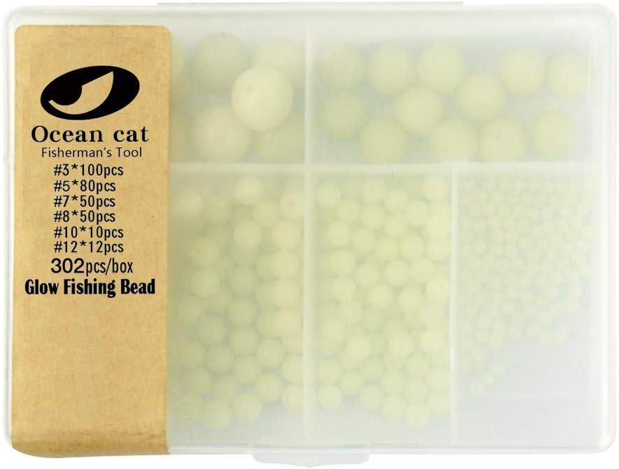 OCEAN CAT 302 Pcs Box Assortment Shaped F Oval Soft supreme Plastic Glow New item