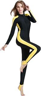 بدلة سباحة للنساء بتصميم قطعة واحدة بأكمام طويلة للحماية من الشمس
