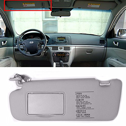 HYUNDAI Interior Sun Visor Shade LH Gray For 2006-2010 Sonata OEM Parts