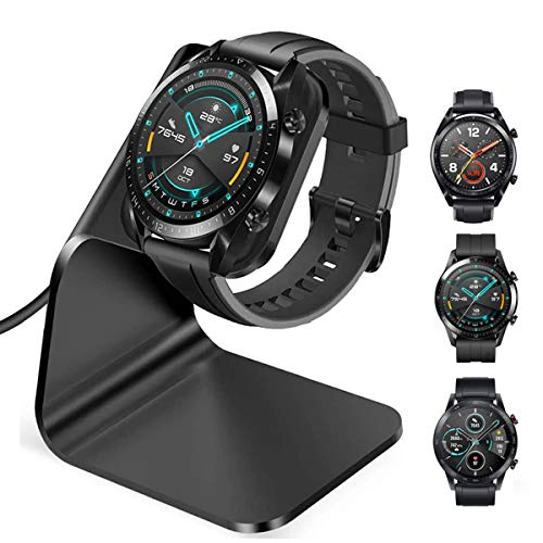 CAVN Ladegerät Kompatibel mit Huawei Watch GT/GT 2 /GT 2e /Honor Magic Watch 2 Ladestation, (130cm/4.2ft) USB Aluminium Ladekabel Schnellladegerät Lade Dock für gt/gt 2/gt 2e/Magic Watch 2 46mm 42mm