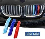 JK Griglia inserst strisce Rene griglia radiatore compatibili con B M W X5 E53 2004-2007 7 barre griglia anteriore Insert Trim M Power Sport Tech Performance Styling Tuning Tuning
