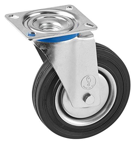 Meister–Rueda con placa Decoración goma de ruedas  unidad suave superficie  rollo Almacenamiento | rollo de transporte | Muebles Rollo | cargas pesadas rollo, 800690