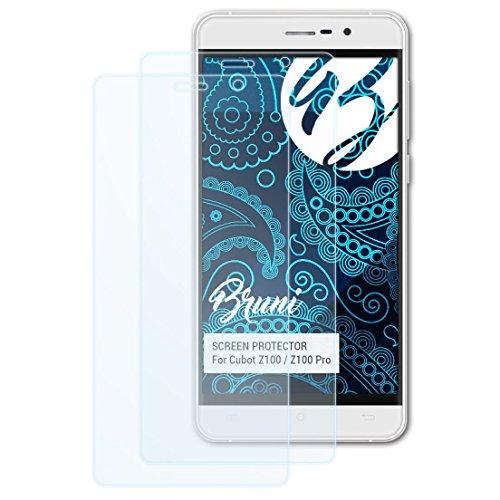 Bruni Schutzfolie kompatibel mit Cubot Z100 / Z100 Pro Folie, glasklare Bildschirmschutzfolie (2X)