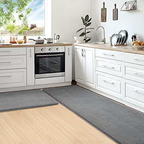 Color&Geometry Chemin de Cuisine 44x75cm+44x150cm,Tapis Cuisine absorbants antidérapants,Tapis de Cuisine lavables en Machine, Tapis d