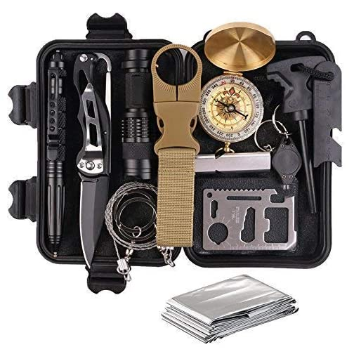 TRSCIND Survival Gear Kits 13 in 1 Outdoor Emergency SOS Survive Tool for Wilderness/Trip/Cars/Hiking/Camping Gear… 3