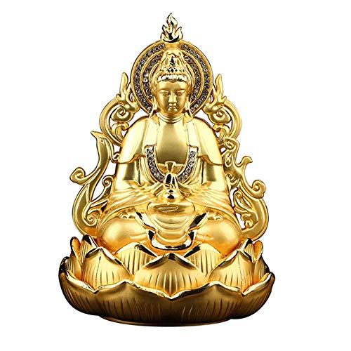ZJYWMM Estatua Feng Shui Decoración Creatividad Estatua de Buda Guan Yin, Adorno de Escultura de Quan Yin de Doble Cara meditando, Estatua de Kuan Yin, Los Mejores Regalos de Feng Shui ch