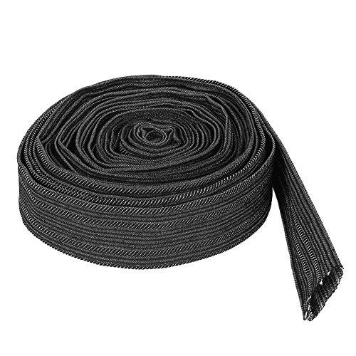 Cubierta de cable de nylon - Cubierta de cable de funda protectora de nylon de 7,5 m para manguera hidráulica de antorcha de soldadura