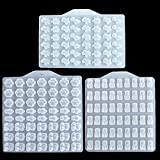 Viesky - Moldes de silicona para gominolas (3 unidades), diseño de oso y gato
