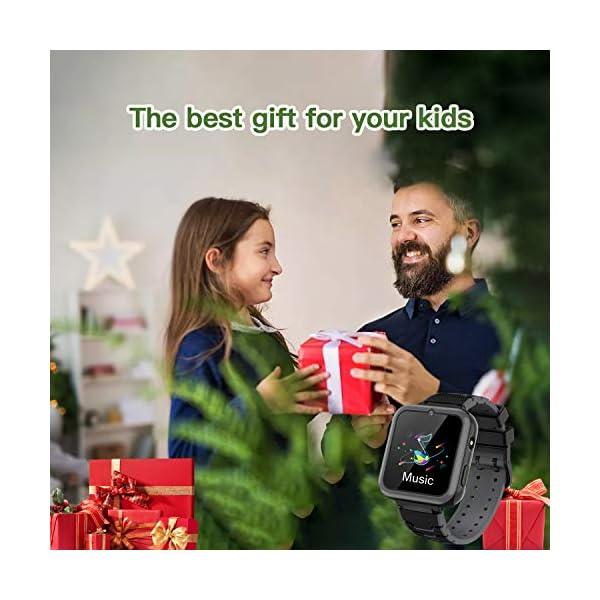 Smooce Smartwatch para Niños, Reloj Inteligente Niños Teléfono con 1.54 Pulgadas Pantalla Táctil, MP3 Música,Llamada SOS… 3