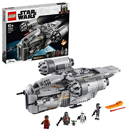 "LEGO 75292 Star Wars The Razor Crest Starship Toy with The Mandalorian and The ""Baby Yoda"" Minifigures (Exclusive to Amazon)"