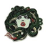 Medusa Venomous Snakes - Bleeding Gorgon Stone Greek Mythology Myth Theme - Vacation Souvenir Embroidered Premium 3