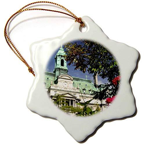 Quebec, Montreal, Jacques Cartier Square Cn Cmi Cindy Miller Hopkins Snowflake Porcelain Ornament, Christmas Ornament Keepsake