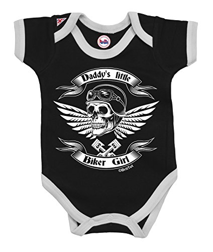 Girls Baby Grow Daddy`s Little Biker Girl by BritTot 6/12