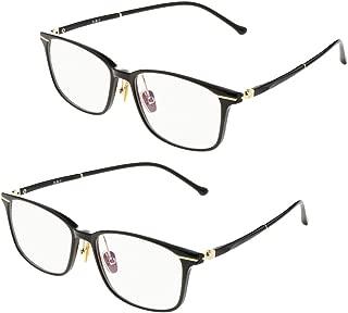 Baoblaze 2Pairs Blue Light Filter Computer Glasses for Blocking UV Headache Anti Eye Eyestrain, Transparent Lens Gaming Glasses, Unisex