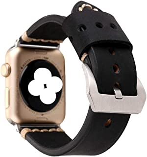 JIANGUAND AU Applicable apple watch wristwatch matte leather wristband round hole cortex