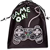 Video Game Party Supplies, Drawstring Goodie Favor Bags (12 x 10 In, 12 Pack)