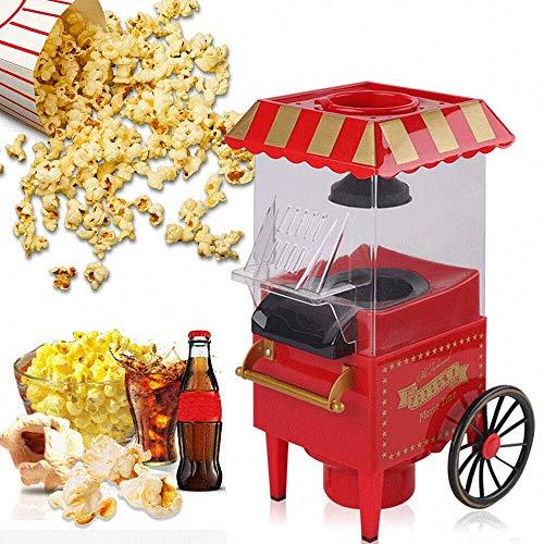 palomitero 1200W rápido de aire caliente palomitas de maíz, palomitas de maíz máquina portátil con la taza de medición extraíble y cubierta superior, saludable, sin aceite, ideal for ver películas y l