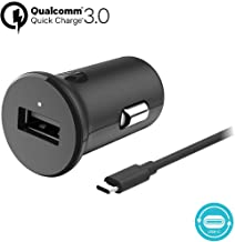 Motorola TurboPower 18 QC3.0 Car Charger w/ 3.3ft SKN6473A USB-C Cable for Moto Z, Z2, Z3, Z4, X4, G7, G7 Play, G7 Plus, G7 Power, G6, G6 Plus [NOT for G6 Play] (Retail Box)