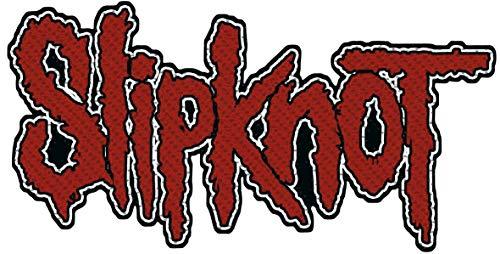 Slipknot Logo Unisex Patch rot/schwarz, 100% Polyester, Undefiniert Band-Merch, Bands