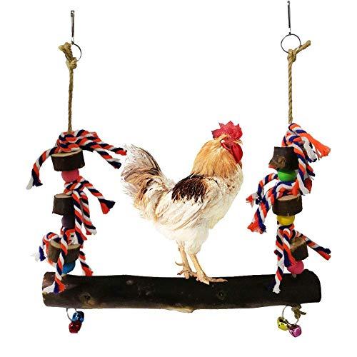 Ardentity kip van schommelhout, kip, papegaaien, schommel, speelgoed, grote schommel voor het ophangen van kippen en vogels