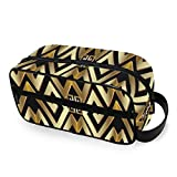 Abstract Manders Ornament Toiletry Bag with Zippers Travel Toiletries Bags Carry-on Travel Accessories Travel Bag for Toiletries for Men and Women Travel Toiletries for Toiletries Accessories