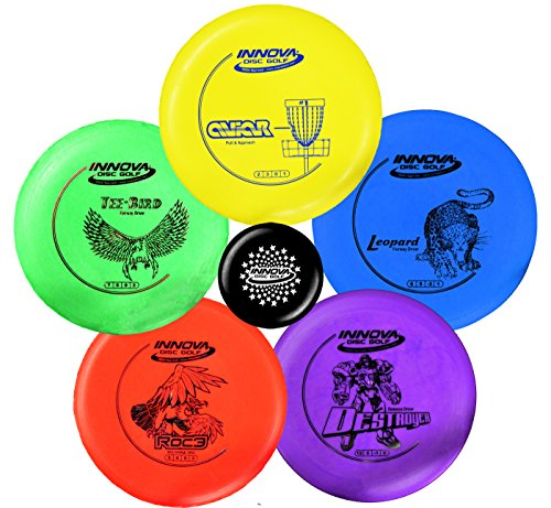 INNOVA Disc Golf Starter Set – Colors May Vary 160180g – DX Putter MidRange Driver