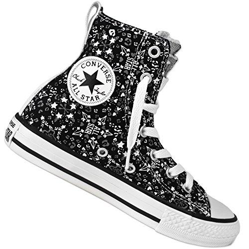 Converse All Star Party HI Graphic Chuck Taylor HI Sneaker Sterne Herzen 647723C, Farbe:Schwarz, Schuhgröße:EUR 31 1/2