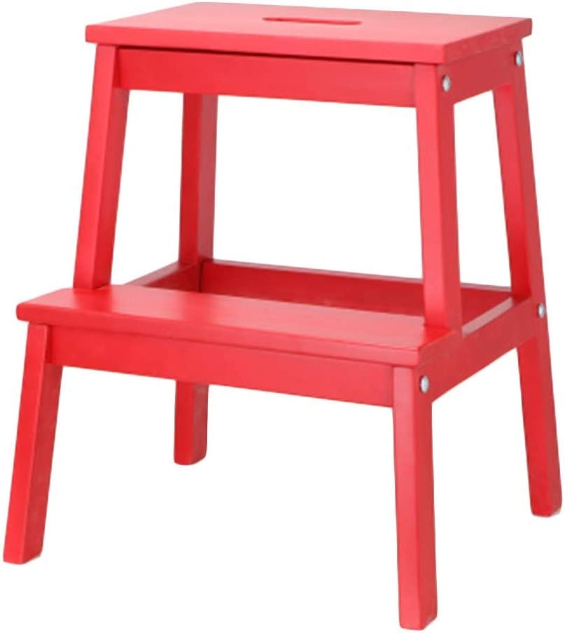 Finally resale start Outlet sale feature 2 Steps Ladder Stool Wood Stools Adult Stepladder Foot Portable