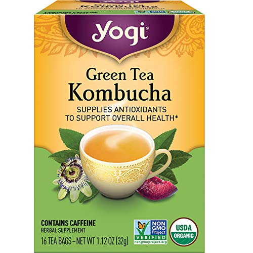 Yogi Tea - Green Tea Kombucha (6 Pack) - Supplies Antioxidants - 96...