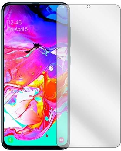 Preisvergleich Produktbild Ecultor I 11x Schutzfolie passend für Samsung Galaxy A70 Displayschutz-Folie Klar (bewusst Kleiner als das Glas,  da Dieses gewölbt ist)