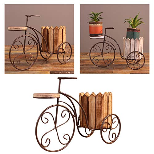 HKU Vasi per Piante da Fiori, Portafiori per Biciclette Decorazione Artigianale in Ferro Battuto Giardino Esterno Patio Cesto di Fiori Espositore per Vasi da Sposa per La Casa, 31x11cm